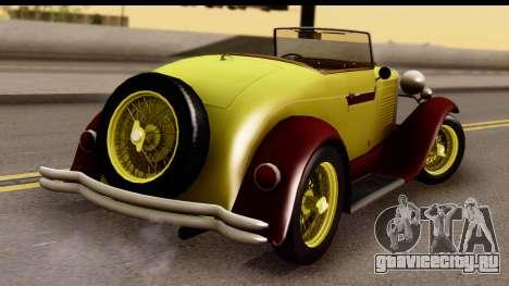 Ford A 1928 для GTA San Andreas вид слева