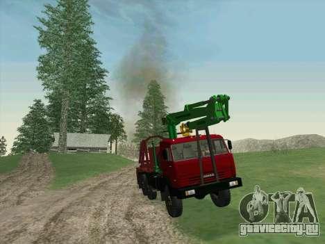 КамАЗ 44108 Лесовоз для GTA San Andreas вид сзади слева
