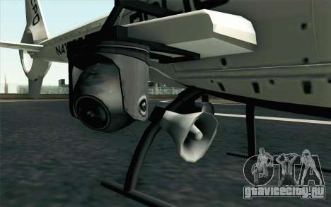 NFS HP 2010 Police Helicopter LVL 1 для GTA San Andreas вид сзади слева