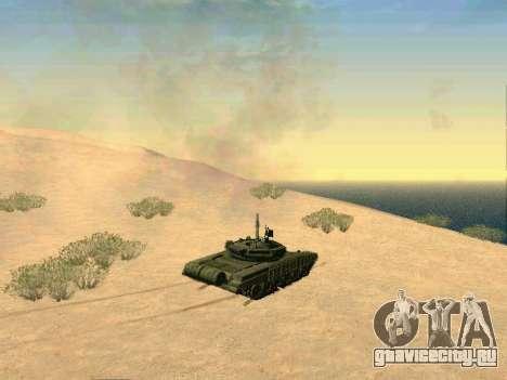 Танк Т-72Б для GTA San Andreas вид изнутри