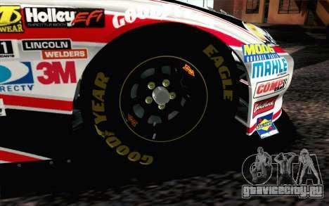 NASCAR Chevrolet Impala 2012 Plate Track для GTA San Andreas вид сзади слева