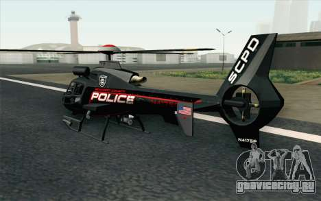 NFS HP 2010 Police Helicopter LVL 3 для GTA San Andreas вид слева