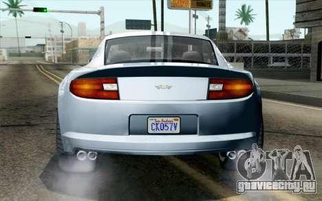 GTA 5 Dewbauchee Exemplar IVF для GTA San Andreas вид сзади