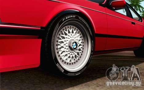 BMW M635CSI E24 1986 V1.0 для GTA San Andreas вид сзади слева