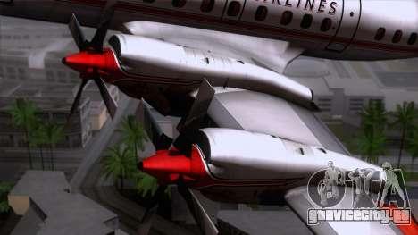 L-188 Electra American Als для GTA San Andreas вид сзади