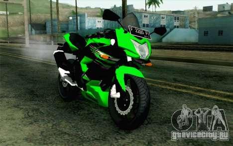Kawasaki Ninja 250RR Mono Green для GTA San Andreas