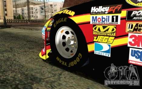 NASCAR Toyota Camry 2012 Short Track для GTA San Andreas вид сзади слева