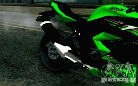 Kawasaki Ninja 250RR Mono Green для GTA San Andreas вид сзади