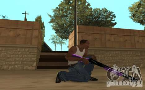 Purple Weapon Pack by Cr1meful для GTA San Andreas пятый скриншот