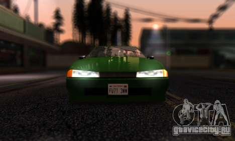 Elegy I Love GS v1.0 для GTA San Andreas вид изнутри