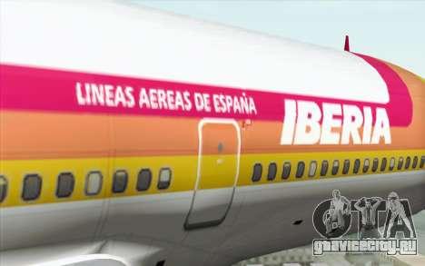 Lookheed L-1011 Iberia для GTA San Andreas вид сзади