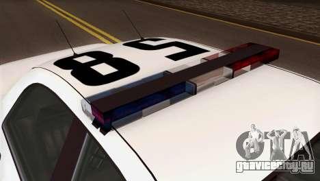 GTA 5 Vapid Stanier Sheriff SA Style для GTA San Andreas вид сзади