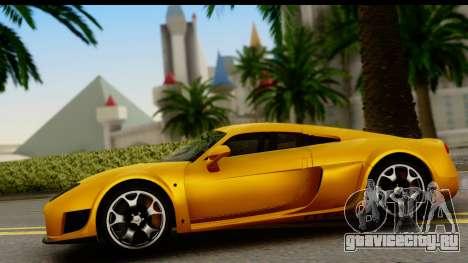 Noble M600 2010 HQLM для GTA San Andreas вид сзади