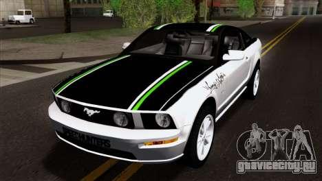 Ford Mustang GT Wheels 2 для GTA San Andreas вид изнутри