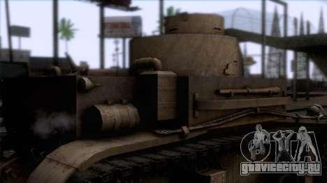 M2 Light Tank для GTA San Andreas вид сзади