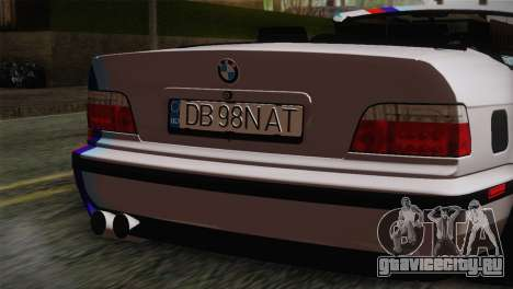 BMW E36 M3 Cabrio для GTA San Andreas вид сзади