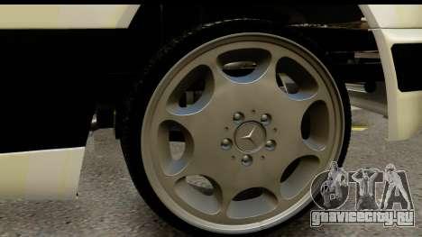 Mercedes Benz E320 W124 Coupe для GTA San Andreas вид сзади
