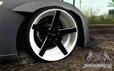 Nissan GT-R 2014 RocketBunny для GTA San Andreas вид сзади слева
