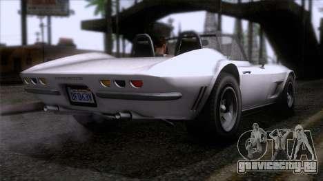 GTA 5 Invetero Coquette Classic TL SA Mobile для GTA San Andreas вид слева