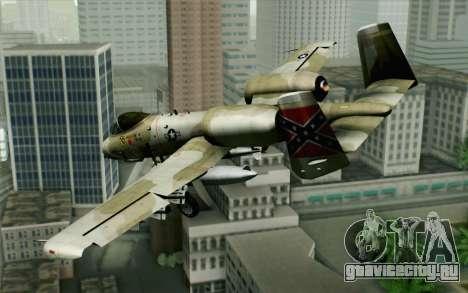 A-10 Desert Camo для GTA San Andreas вид слева