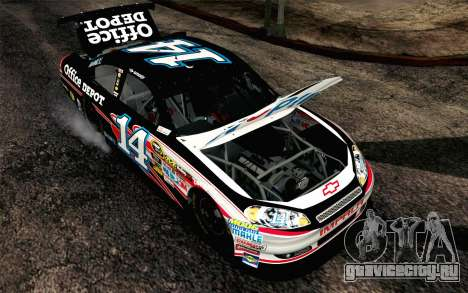 NASCAR Chevrolet Impala 2012 Plate Track для GTA San Andreas вид сзади