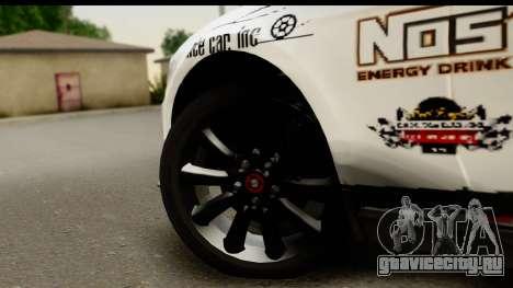 Ford Mustang 2010 Cobra Jet для GTA San Andreas вид сзади
