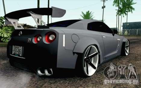 Nissan GT-R 2014 RocketBunny для GTA San Andreas вид слева