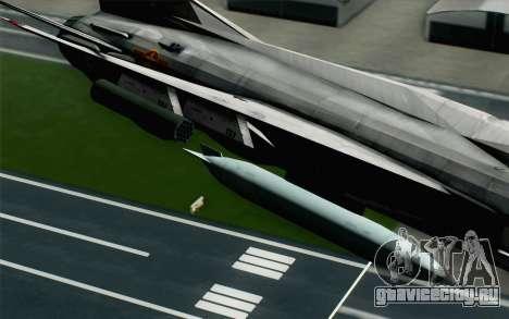 MIG-21MF Vietnam Air Force для GTA San Andreas вид справа