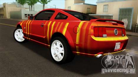 Ford Mustang GT PJ для GTA San Andreas вид слева