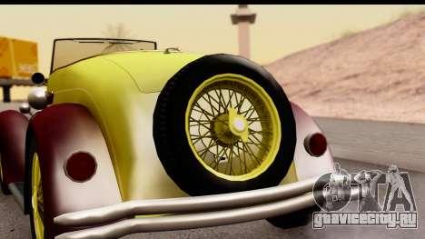 Ford A 1928 для GTA San Andreas вид справа