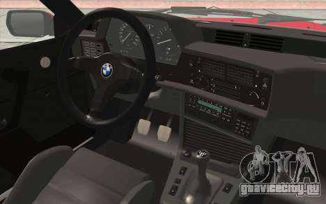 BMW M635CSI E24 1986 V1.0 для GTA San Andreas вид сзади