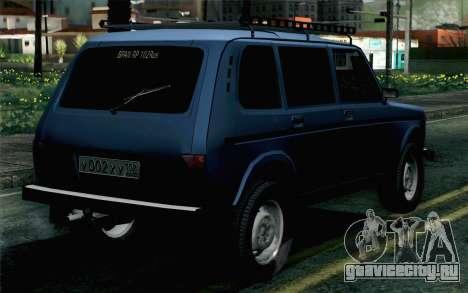 ВАЗ 2131 Нива 5Д для GTA San Andreas вид слева