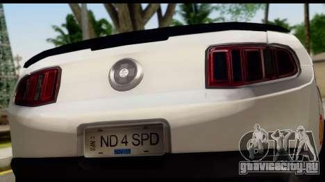 Ford Mustang 2010 Cobra Jet для GTA San Andreas вид справа