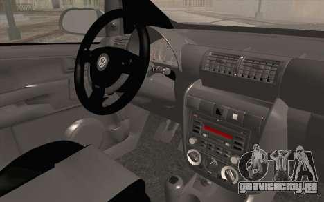 Volkswagen Fox для GTA San Andreas вид справа