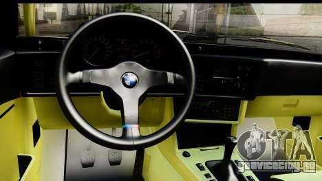BMW M635 E24 CSi 1984 для GTA San Andreas вид изнутри