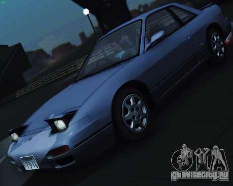 Nissan Silvia S13 для GTA San Andreas вид изнутри