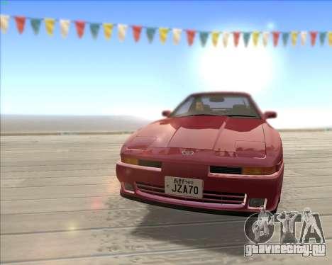 Toyota Supra 2.0GT MK3 для GTA San Andreas вид изнутри