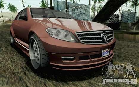 GTA 5 Benefactor Schafter SA Mobile для GTA San Andreas
