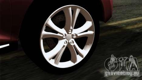 Nissan Murano 2008 для GTA San Andreas вид сзади слева