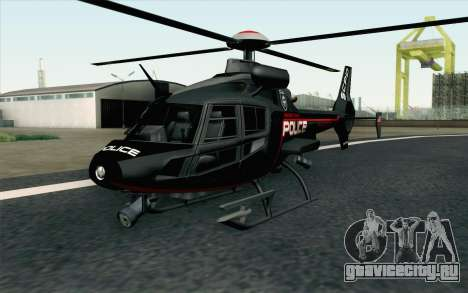 NFS HP 2010 Police Helicopter LVL 3 для GTA San Andreas