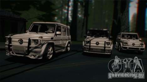 Mercedes-Benz G65 2013 AMG Body для GTA San Andreas вид изнутри
