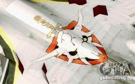 Sukhoi SU-27 Macross Frontier для GTA San Andreas вид сзади