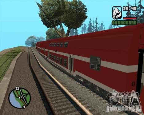 Israeli Train Double Deck Coach для GTA San Andreas вид слева