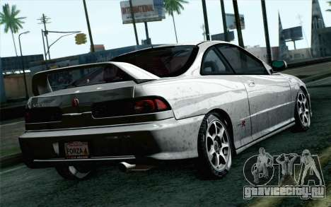Acura Integra Type R 2001 Stock для GTA San Andreas вид слева