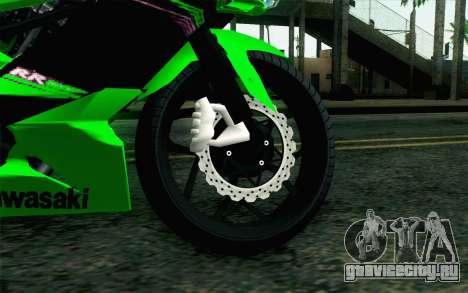 Kawasaki Ninja 250RR Mono Green для GTA San Andreas вид сзади слева