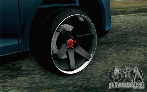 Volkswagen Golf для GTA San Andreas вид сзади слева