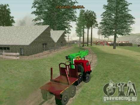 КамАЗ 44108 Лесовоз для GTA San Andreas вид сбоку