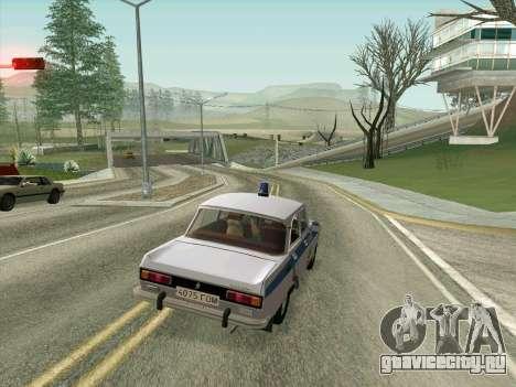 Москвич 2140 Милиция для GTA San Andreas вид сверху