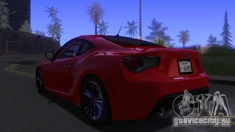 Scion FR-S 2013 Stock v2.0 для GTA San Andreas вид слева