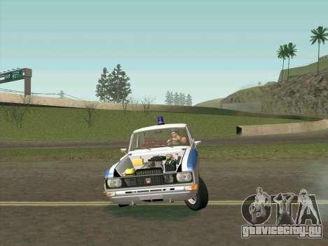 Москвич 2140 Милиция для GTA San Andreas салон